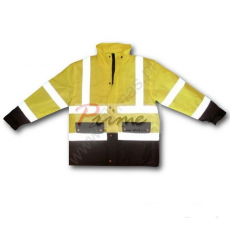 Flash-Bi Yellow Jól láthatósági Sárga téli kabát (Jól láthatósági munkaruha)