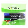 """FLEXOFFICE Alkohos marker, 1,5 mm, kúpos, FLEXOFFICE """"PM03"""", 4 különbözõ szín"""