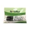 FLEXOFFICE Táblamarker, 2,5 mm, kúpos, 2 db/bliszter, FLEXOFFICE