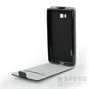 Flip szilikon belső Flip tok szilikon belsővel, Apple iPhone X, fekete
