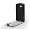 Flip szilikon belső Flip tok szilikon belsővel, HTC U11 Plus, fekete