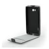 Flip szilikon belső Flip tok szilikon belsővel, HTC U Ultra, fekete