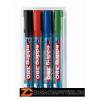 """Flipchart marker készlet, 1,5-3 mm, kúpos, EDDING """"380"""", 4 különböző szín (TED380V4)"""