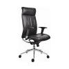 . Fõnöki szék, bõrborítás, ezüst színû lábkereszt, Chicago 600 Adj, fekete