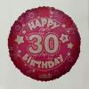Fólia nagy lufi 30 éves, pink