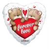 Fólia nagy lufi Forever Love, szív alakú