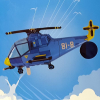 Fólia Óriás lufi Helikopter kék