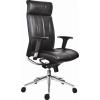 """. Főnöki szék, bőrborítás, ezüst színű lábkereszt, """"Chicago 600 Adj"""", fekete"""