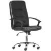 """. Főnöki szék, műbőr borítás, króm lábkereszt, """"LGA 71 CR"""", fekete"""
