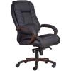 Főnöki szék, műbőrborítás, fekete lábkereszt,  Buffalo PU , fekete
