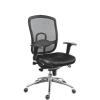 Főnöki szék, szövetborítás,fejtámla nélkül, hálós háttámla,  Oklahoma , fekete