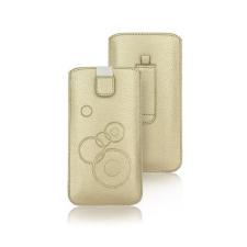 Forcell Deko univerzális kihúzós tok - Apple iPhone X arany tok és táska
