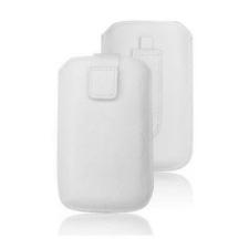 Forcell Deko univerzális kihúzós tok - Nokia 610/i8160 Galaxy Ace 2, Maxcom MM428 fehér tok és táska