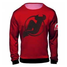 FOREVER Collectibles™ New Jersey Devils fĂŠrfi pulóver red NHL Static Rain - L,(USA)