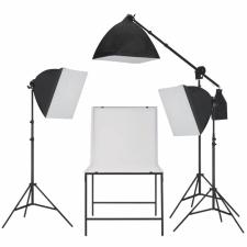 fotó stúdió szett, softbox fényekkel és tárgyfotó asztallal világítás