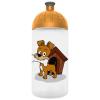 """FREEWATER Kulacs, higiénikus műanyagból, 0,5L,  """"Kutyus"""", átlátszó"""
