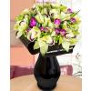 Frézia orchidea vegyes körcsokor