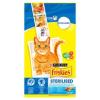 Friskies Sterilised teljes értékű állateledel ivartalanított felnőtt macskák számára lazaccal 1,5 kg