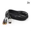 FrontStage Y-kábel, XLR cinchre, 2 darabos készlet, 6 m