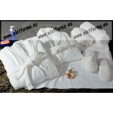 Frottír sálgalléros Fehér köntös (100 % pamut), S