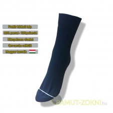 Frottír talpas zokni - fekete 37-38 női zokni