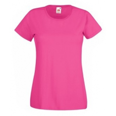 Fruit of the Loom  61-372  LADY FIT Valueweight  női póló FUCHSIA  XS-XXL méretek