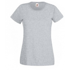 Fruit of the Loom  61-372  LADY FIT Valueweight  női póló HEATHER GREY  XS-XXL méretek