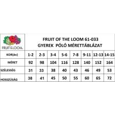 Fruit of the Loom gyerek rövid ujjú póló, natur gyerek póló