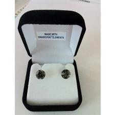 . Fülbevaló, Crystals from SWAROVSKI®, black diamond, 8mm fülbevaló