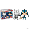 Funko szett 2 bábus POP Capcom vs Marvel fekete Panther vs Monster Hunter Exclusive gyerek