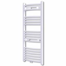 Fürdőszobai törölközőszárító radiátor központi fűtéssel oldalsó és középső csatlakozóval ívelt 600 x 1160 mm fűtőtest, radiátor