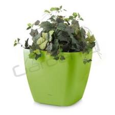 G21 önöntöző kaspó Cube maxi 45 cm, zöld kerti dekoráció