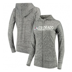 G-III Apparel Group Colorado Avalanche női pulóver grey Reciever Full-Zip Hoodie - XL