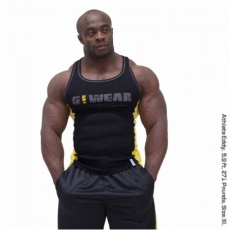 G!WEAR RIB TANK TOP (BLACK/YELLOW) [XL]