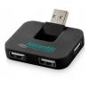 Gaia 4 portos USB HUB, fekete