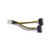 Gembird 2db SATA Power -> PCI-E Power 8pin M/F adapter 0.15m