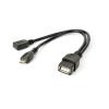 Gembird A-OTG-AFBM-04 USB OTG AF + Micro BF to Micro BM cable 0, 15m Black
