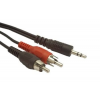 Gembird audio kábel Jack 3.5mm apa / 2x RCA (CINCH) apa  10m
