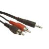 Gembird audio kábel Jack 3.5mm apa / 2x RCA (CINCH) apa  20m