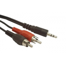 Gembird audio kábel Jack 3.5mm apa / 2x RCA (CINCH) apa  2.5m audió/videó kellék, kábel és adapter