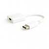 Gembird Displayport v1.2 male to HDMI female adapter, 10cm, white