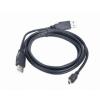 Gembird Dual USB Y 2.0 A-csatlakozó / MINI 5PM kábel  0.9m