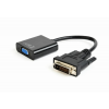 Gembird DVI-D to VGA adapter cable; black; blister