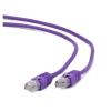Gembird FTP kat.6 RJ45 patch kábel  1m  ibolya