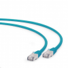 Gembird FTP LSZH Cat.6A 1m zöld RJ45 patch kábel
