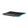 Gembird LED mouse pad with 4-port USB 2.0 HUB, dimensions: 255mm x 210mm, black