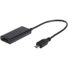 Gembird MHL -> HDMI M/F adapter 0.3m fekete