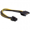 Gembird Sata power kábel PCI Express, 0.2m