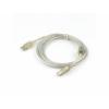 Gembird USB 2.0 cable A male - B male, premium quality 1.8m transparent