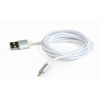 Gembird USB to 8-pin cable; cotton braided; metal connectors; 1.8m; silver